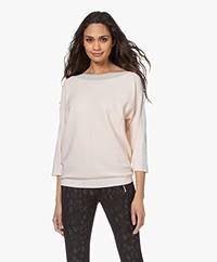 no man's land Cotton Sweater with Lurex - Pink Blush