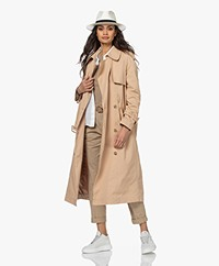 Denham Belfairs Cotton Twill Trench Coat - Nomad