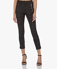 Rag & Bone Simone Slim-fit Leopard Printed Pants - Black