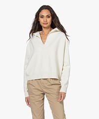 Drykorn Fima Knitted V-neck Hooded Sweater - Papyrus