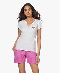 Zadig & Voltaire Tunisien Heart Henley T-shirt - White