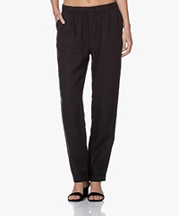 Belluna Colin Linen Pants - Black