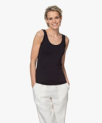 Majestic Filatures Abby Soft Touch Jersey Tank Top - Marine