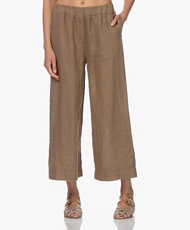 by-bar Ines Linen Loose-fit Pants - Sepia