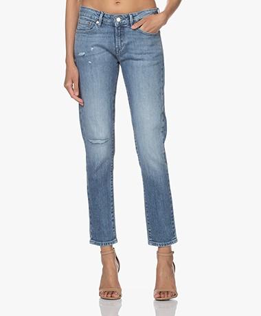 Denham Liz Ankle Straight Fit Jeans - Blue
