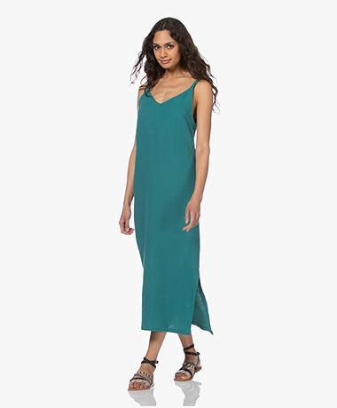 Shades Antwerp Dina Mousseline Jurk met Split - Turquoise
