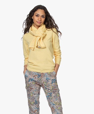 Resort Finest Amico Cashmere Blend Scarf - Yellow