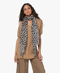 LaSalle Printed Cotton Blend Scarf - Spots