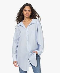 Mes Demoiselles Scharade Oversized Poplin Shirt - Light Blue