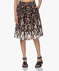 LaSalle Printed Cotton Skirt - Safari