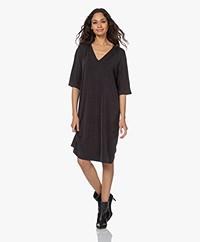 By Malene Birger Lesli Cupro Jersey T-shirt Dress - Black