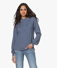 Plein Publique Le Hoodie Merino Blend Knitted Sweater - Jeans Blue