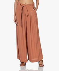by-bar Wanda Viscose Crepe Wide Leg Pants - Copper