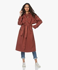American Vintage Ooklaoma Cotton Twill Trench Coat - Floor Tile