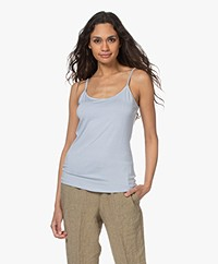 no man's land Viscose Singlet - Pale Blue