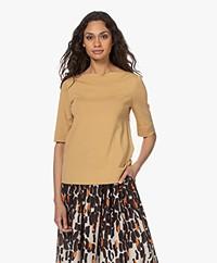 LaSalle Short Sleeve Boat Neck Sweater - Gold