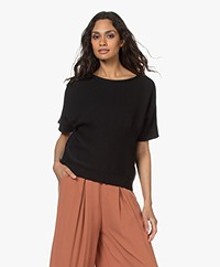 by-bar Laurie Cotton Short Sleeve Pullover - Jet Black