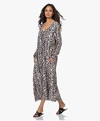 By Malene Birger Embelia A-line Print Dress - Greige