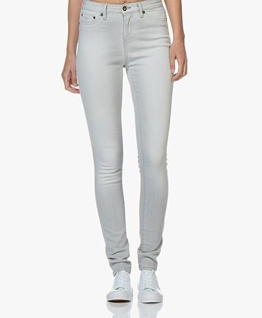 Denham Needle High Skinny Jeans - Lichtgrijs