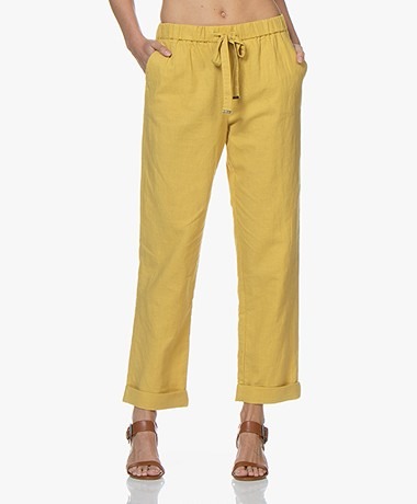 Repeat Loose-fit Linen Blend Pants - Mais