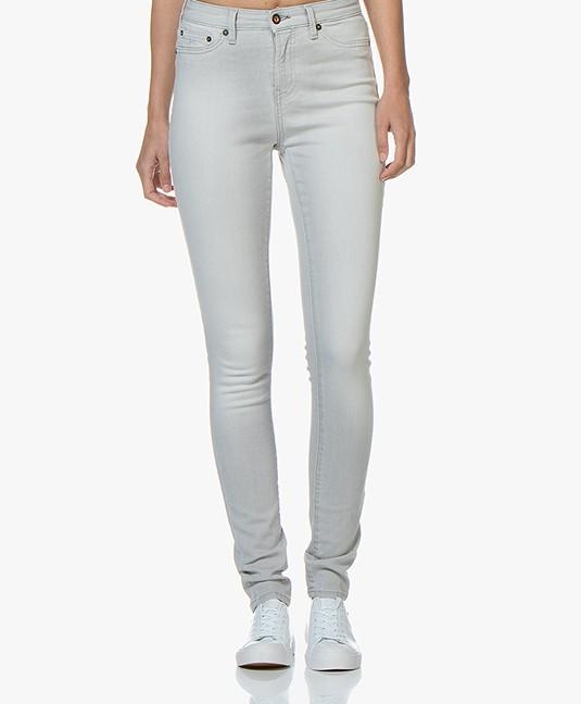 Denham Needle High Skinny Jeans - Light Grey