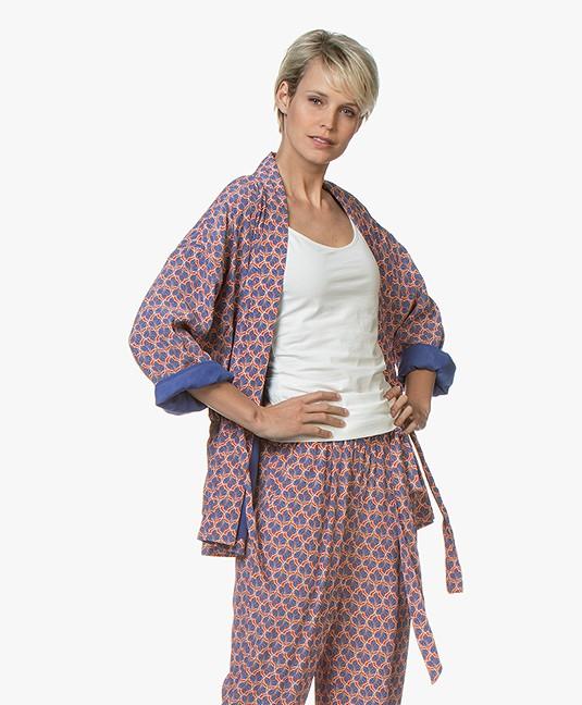 MKT Studio Verlini Leaf Kimono Blazer - Vermillon