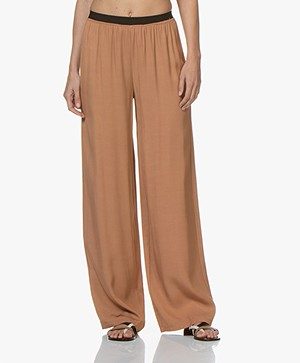 BY-BAR Dorris Loose-fit Twill Broek - Copper