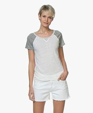 Majestic Filatures Linnen Jersey T-Shirt - Milk/Granit/Carrare