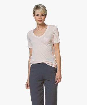 Denham Pilot Slub Jersey V-hals T-shirt - Hushed Violet