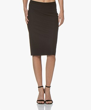 JapanTKY Nobi Travel Jersey Pencil Skirt - Black
