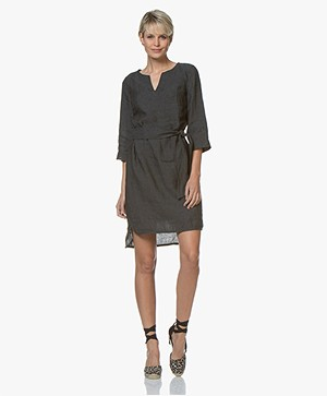 Josephine & Co Cleo Linen Tunic Dress - Black