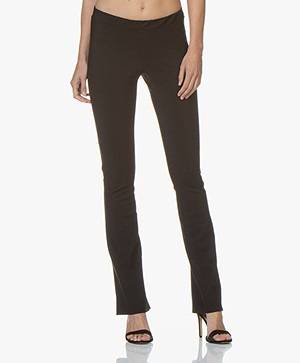 Woman by Earn Nora Flared Tech Jersey Pants - Black