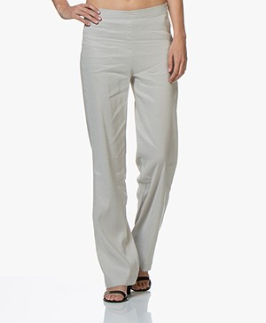 Woman by Earn Tine Linen Blend Pants - Sand