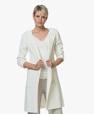 Sibin/Linnebjerg Mary Merinomix Open Vest - Off-white