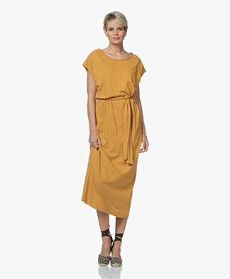 American Vintage Bysapick Jersey Midi Dress - Ochre Yellow