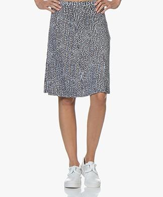 Belluna Azul Jersey Skirt with Dots Dessin - Original