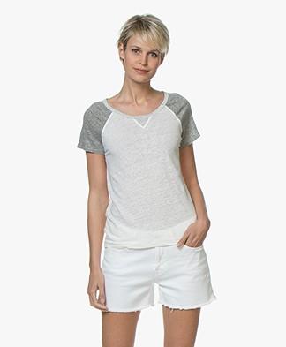 Majestic Filatures Linen Jersey T-Shirt - Milk/Granit/Carrare