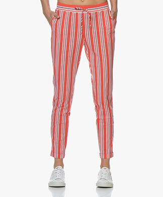 Josephine & Co Ray Striped Travel Jersey Pants - Red