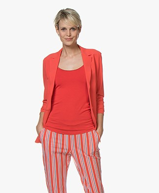 Josephine & Co Rachel Bonded Travel Jersey Blazer - Red