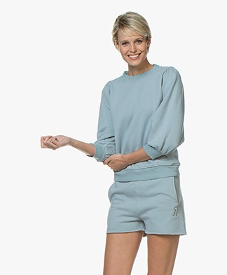 Ragdoll LA Puff Sleeve Sweatshirt - Pale Blue