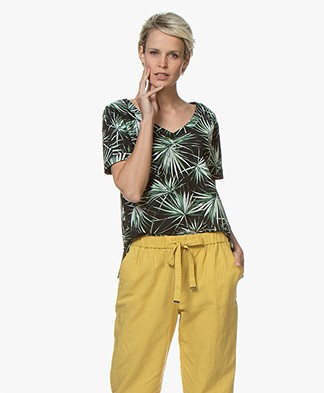 Josephine & Co Reiza Tech Jersey Print T-shirt - Palmleaf