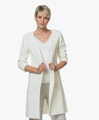 Sibin/Linnebjerg Mary Merino Blend Open Cardigan - Off-white