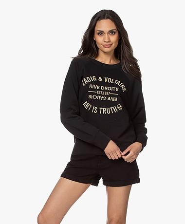 Zadig & Voltaire Upper Blason Logo Sweatshirt - Zwart