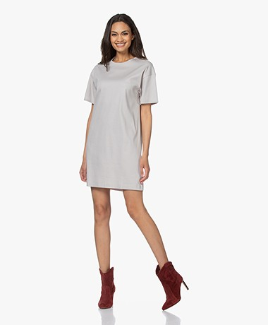 Filippa K Maddie Cotton Jersey T-shirt Dress - Sterling Grey
