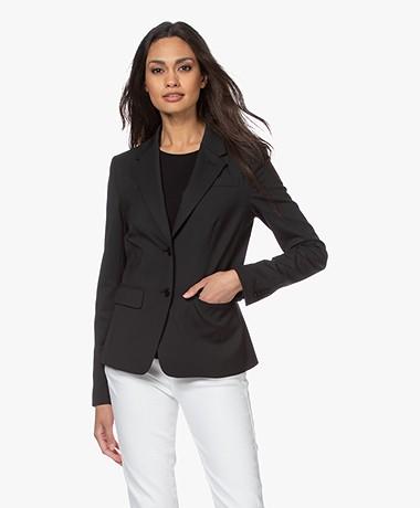 Drykorn Boulder Ponte Jersey Blazer - Black