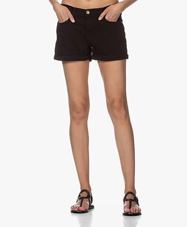 Frame Le Cutoff Cuffed Denim Shorts - Black