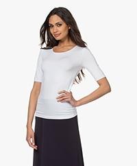 Majestic Filatures Superwashed Half Sleeve T-shirt - White