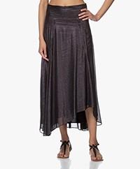 IRO Greoux Chiffon Dot Print Skirt - Black