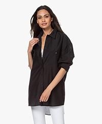 Filippa K Sandie Lyocell Oversized Shirt - Black
