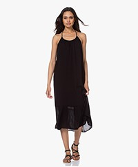 ba&sh Maelle Viscose Midi Dress - Black